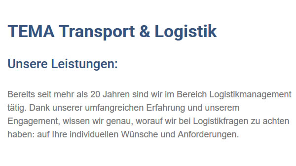 Logistikmanagement aus  Wutach