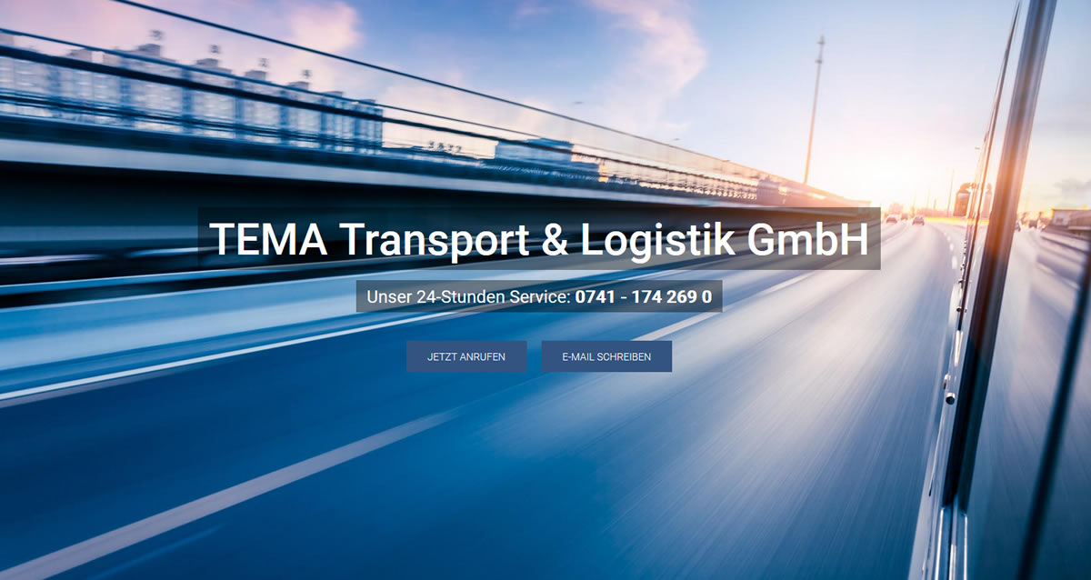 Transporte Hüfingen: TEMA Transport & Logistik Transport & Kurierdienst & Logistik -Direkttransporte