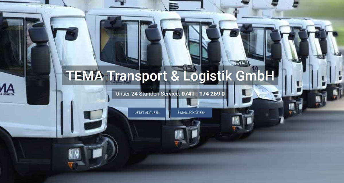 Transporte Wutach: TEMA Transport & Logistik Transport & Kurierdienst & Logistik -LKW Transporte