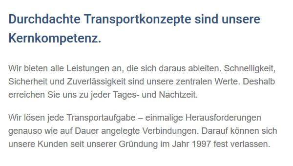 Transportaufgaben in  Villingen-Schwenningen