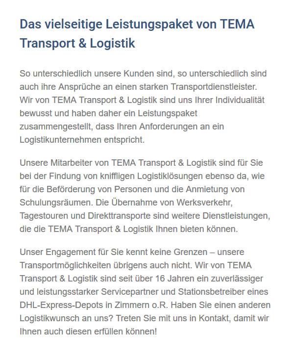 Transportdienstleister aus  Bräunlingen